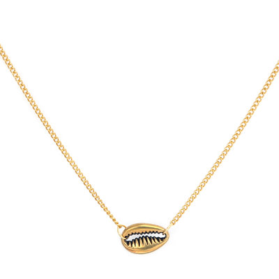 Necklace small shell gold