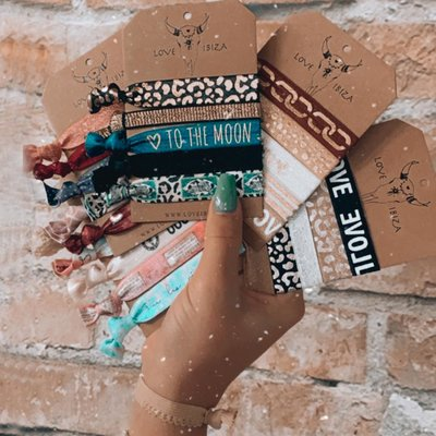 Mix & match your own set of Ibiza hairtie bracelets