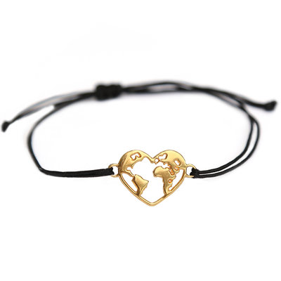 Bracelet heart earth gold