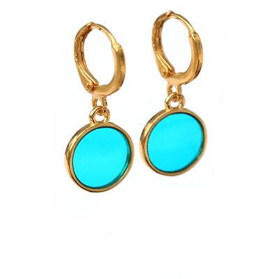 Earrings glass azur