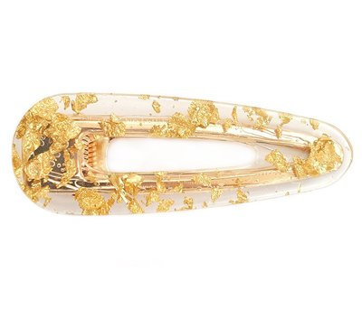 Statement hair clip - Gold flakes