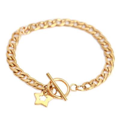 Bracelet chain gold star