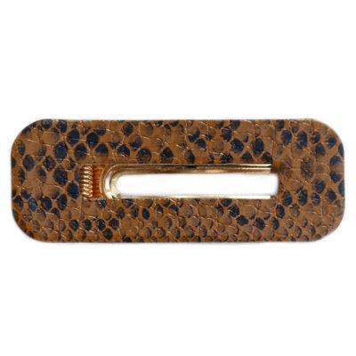 Statement hair clip Snake brown