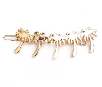 Palm hair clip - gold