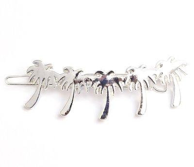 Palm hair clip - silver