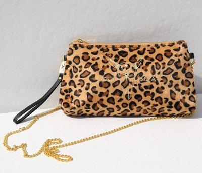 Leopard velvet bag