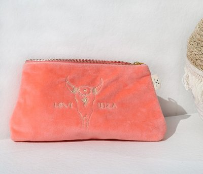 Cosmetic bag Velor Coral