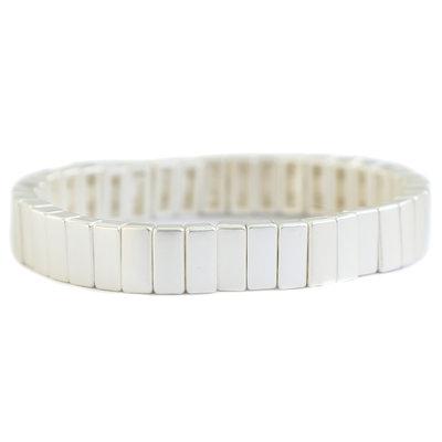Bracelet matte silver