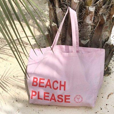 Canvas beach bag Beach Please