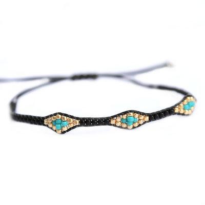 Bracelet miyuki Ibiza black