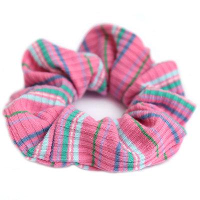 Scrunchie pink stripe