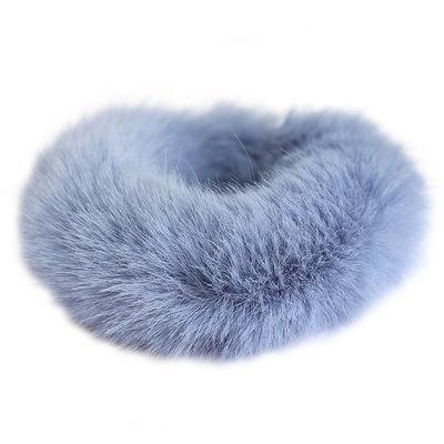 Scrunchie faux fur blue