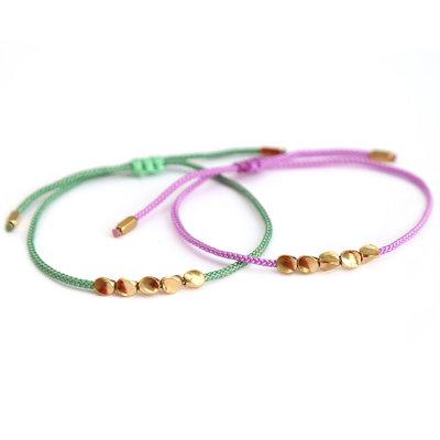Bracelet set green lavender