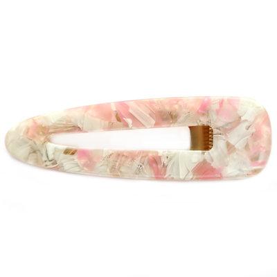 Statement hair clip flakes pastel rose