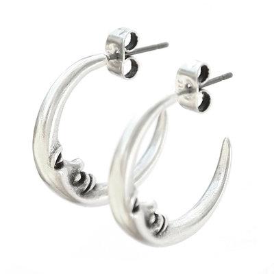Earrings moon silver
