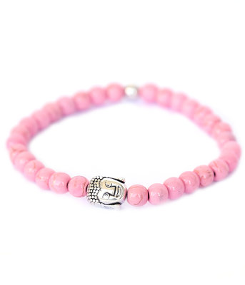 Buddha bracelet pink stone
