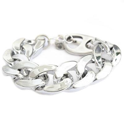 Bracelet large chain silver