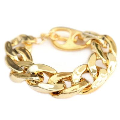 Bracelet large chain gold