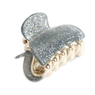 Hair claw small silver sparkle