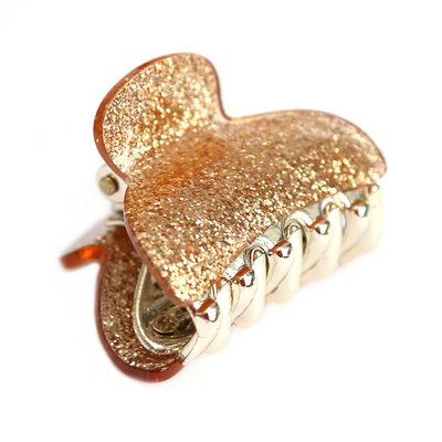 Hair claw small gold sparkle