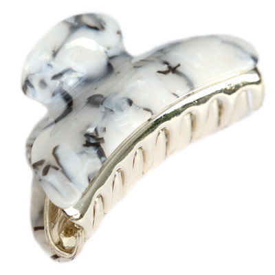 Hair claw marble ivory