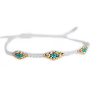 Bracelet miyuki Ibiza white