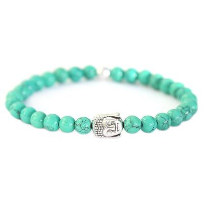 Buddha bracelet palm green stone