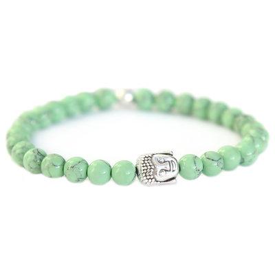 Buddha bracelet sage green stone