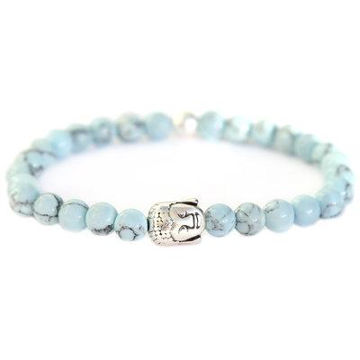 Buddha bracelet baby blue stone