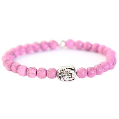 Buddha bracelet lilac stone