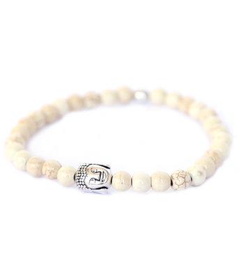 Buddha bracelet ivory stone