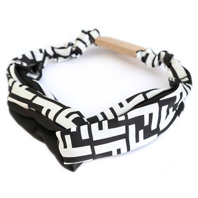 Hair band couture black/white