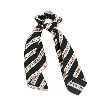 Scrunchie scarf silk look black
