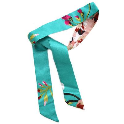 Silk scarf emerald