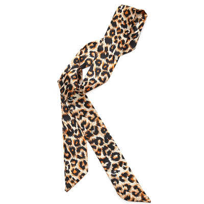 Silk scarf leopard