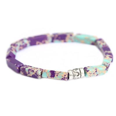 Beachlife bracelet turquoise purple