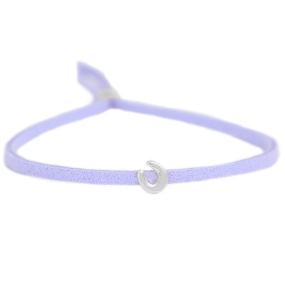 Bracelet for good luck - lilac silver