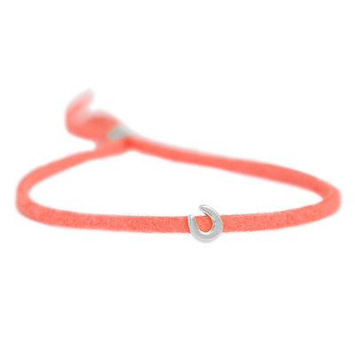 Bracelet for good luck - coral silver
