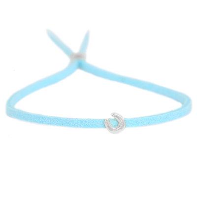 Bracelet for good luck - blue silver