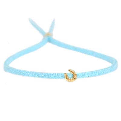 Bracelet for good luck - blue gold