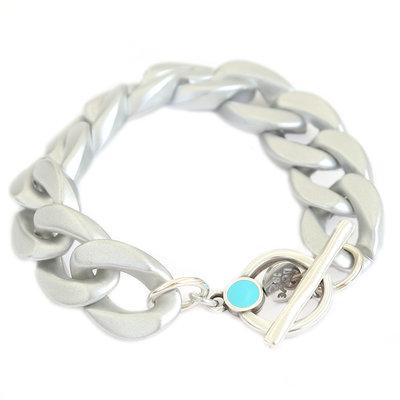 Bracelet chain matte silver