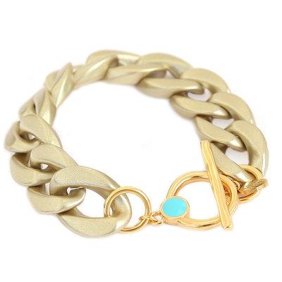 Bracelet chain matte gold
