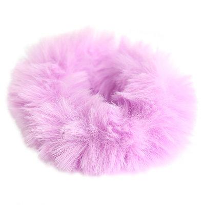Scrunchie faux fur lilac
