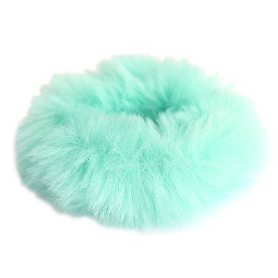 Scrunchie faux fur ocean