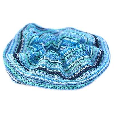 Scrunchie large boho blue