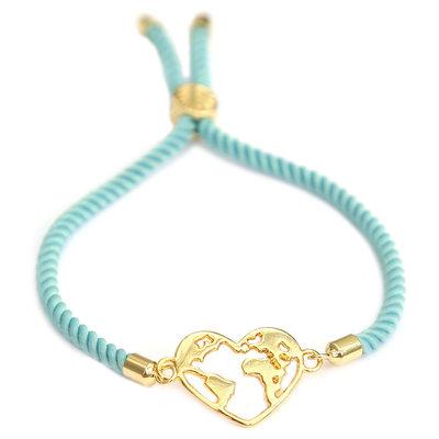 Bracelet heart earth blue