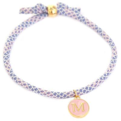 Initial bracelet lilac