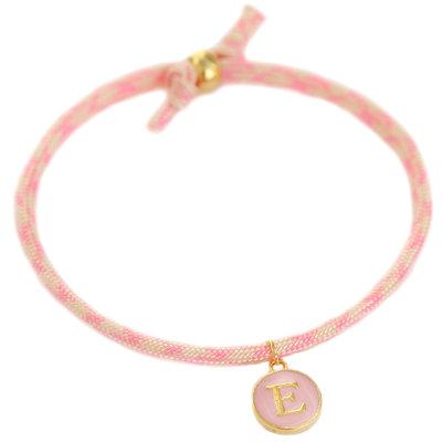 Initial bracelet soft pink