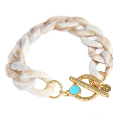 Bracelet chain beige melee