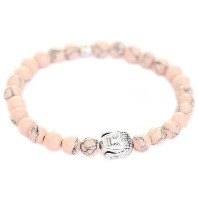 Buddha bracelet rose pale